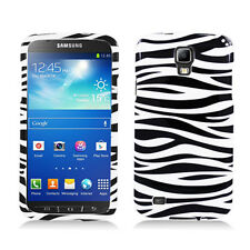 For AT&T Samsung Galaxy S4 Active i537 HARD Case Snap On Phone Cover Zebra