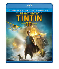 Adventures of Tintin 3D [3 Discs] [Includes Di (2012, Blu-ray New) BLU-RAY/3D/WS