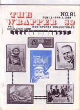 THE WRAPPER #81 - 1989 Non-sports cards fanzine - Weird-Ohs, Topps Astronauts