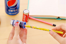 Juice Cans Coke Pencil Sharpener Eraser Novelty Stationery Gift 1pc