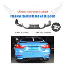 Fits BMW F80 M3 F82 M4 Rear Bumper Diffuser Spoiler Chin Carbon Fiber 2015-2019