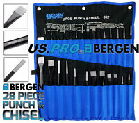 Pin Punch /& Metal Cold Hammer Chisel Set 100-170mm 12 Piece Centre