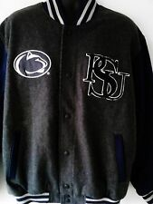Penn State University Football Jacket PSU G-III Wool Gray/Blue Men's US Size XL
