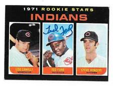 TED FORD 1971 TOPPS AUTOGRAPHED SIGNED # 612 INDIANS **RARE**