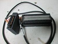 MITSUBISHI PLC INPUT MODULE QX81 TERMINAL BOARD A6TBX70-E CABLE A6TB-E  USED