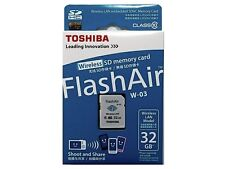 Toshiba Flash Air III Wifi / Wireless SD Memory Card W03 (2015 New version) 32GB