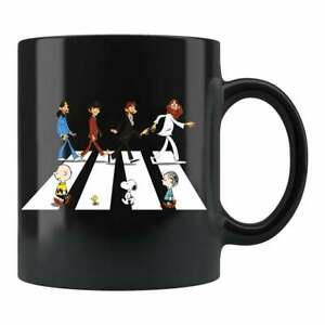 Charlie Brown Sno0py The Beatles Abbey Road Coffee Mug Gift For Friends & Family