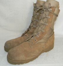 MILITARY men's hot weather desert boots, canvas and leather, sz. 10.5R