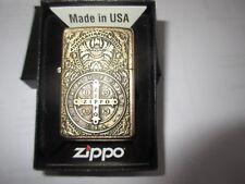 Zippo Medal of Zippo Gold Dust double plated 2-faches Emblem Neu OVP