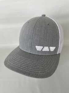 Scluter Systems Mesh SnapBack Hat Cap Gray White