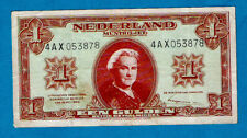 More details for nertherlands- state note p70 1 gulden s/n 4ax053878 tdlr 1945 aunc ex rare
