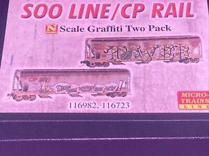 Micro Trains - N Scale 094 44 092 SOO Line/CP Rail Graffiti 2-pk -  Last One!