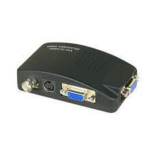 BNC & S-Video to VGA Converter - CCTV Security Surveillance Camera to PC Monitor