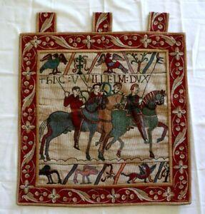 Bayeux NORMAN HORSEMEN Knights Canterbury Cathedral Historical Wall Art Hanging