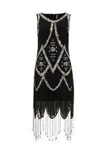 Live 2 Love Art Deco 1920s Gatsby Flapper Cocktail Beaded Hemline Sequin Dress