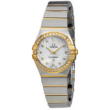 Omega Constellation Mother of Pearl Diamond Dial Ladies Watch 123.25.24.60.55.00