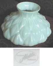 """10"""" GLASS SHADE oil lamp ALADDIN BRAND WHITE ARTICHOKE M200  old antique alladin"""