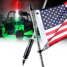 XPRITE RED WHITE GREEN 5FT LED Whip Light & Flag Fits RZR ATV UTV JEEP Off-Road