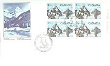 Canada  1984  FDC #934  LR IB     HIGH-VALUE NATIONAL PARK DEFINITIVES   Glacier