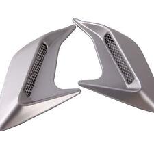 2 PCS DIY Car Auto Decorative Side Vent Air Flow Fender Intake Stickers Silver