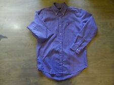 Mens RALPH LAUREN Small Purple Gingham Check Shirt Long Sleeve