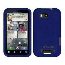 AMZER Silicone Skin Jelly Case for Motorola DEFY MB525 - Blue