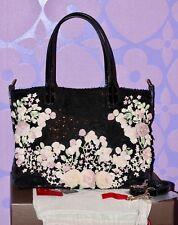 VALENTINO Garavani $3k Floral Chiffon Sequin GLAM Tote Shoulder C/B Bag LIMITED!
