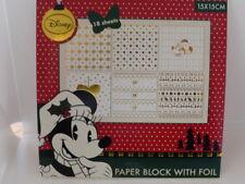 Fond PAPIER desingblock Disney Minnie Souris 18 feuilles scrapbooking bricolage G