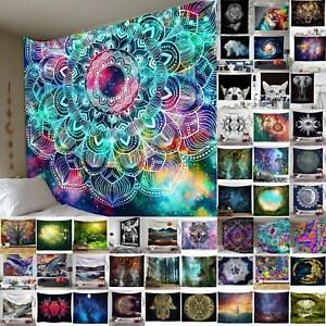 Indian Bohemian Boho Print Wall Hanging Tapestry Hippie Mandala Throw Bedspread