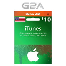 iTunes Gift Card $10 USD Key - 10 Dollar US Apple Store Code Digital Download