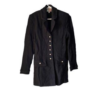 St John Collection Size 4 Black Santana Knit Button Down Jacket Blazer