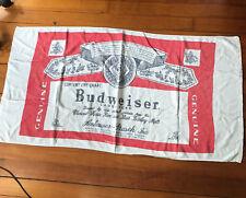 Vintage Budweiser Beach Towel Beer Bottle Label Anheuser Busch 52� x 27� Franco