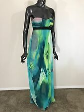 NWT BCBG Max Azria strapless dress gown green amazon size 0 - $ $418