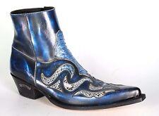 7482 Sendra JAVI Denver Azul Dirty Python Stiefeletten Handmade Blau