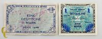 1944 Germany Post WWII Allied Military Currency (2) 1 Mark (VF+) Condition