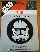 New Official Licensed Star Wars Stormtrooper Cloth Patch Round Iron On