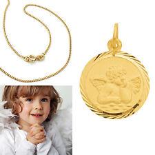 Baby Taufe Kinder Gott schütze Dich Engel Gold 333 mit Silber 925 vergold. Kette