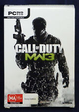 Call of Duty MW3 Modern Warfare 3 PC Boxed Set of 2 DVD ROM (2011, Activision)