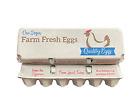 12-egg Blue/Brown design egg cartons - 140units