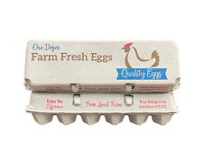 12-egg Blue/Brown design egg cartons - 140units