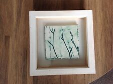 More details for framed  hand painted tile by michele lowe  19.5 x 19.5cm