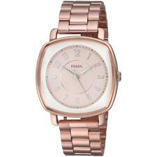 Fossil Idealist 36mm Rectangular Rose Gold Dial Steel Women's Watch ES4195 Sd9