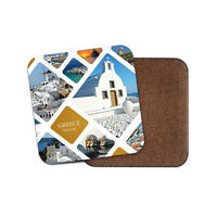 Awesome Greece Architecture Coaster - Travel Holiday Scene Fun Cool Gift #16903