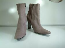Patrick  - Real Suede, Elegant Go Anywhere Designer Heel Ankle Boots - Size 6.5