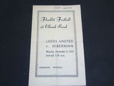 1953-54 OPENING OF FLOODLIGHTS LEEDS UNITED v HIBERNIAN