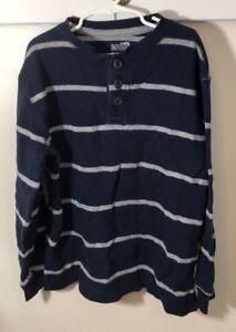 Old Navy Boys Sweater Blue with Grey Stripes Size Medium (8)