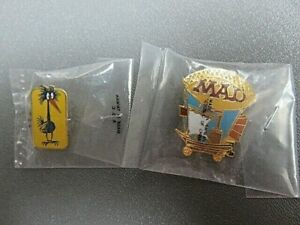 2 Mad Magazine subscribers pins Never removed from package Zepplin, bird