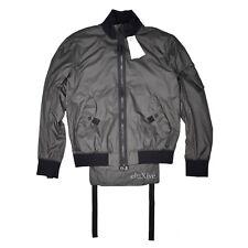 NWT $595 Helmut Lang Men's Gray Translucent Nylon Flap Bomber Jacket S AUTHENTIC
