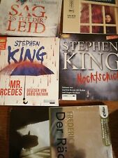 5 Hörbuch mp3 Hörbücher Paket Konvolut Krimi Stephen King David Nathan