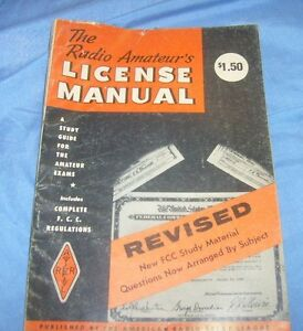 THE RADIO AMATEUR'S LICENSE MANUAL 1975 ARRL MAGAZINE HAM RADIO / b5